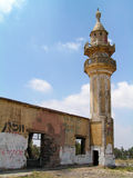 Ruined and abandoned mosque. Remains of a ruined and destroyed mosque Royalty Free Stock Photo