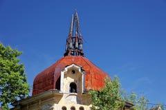 Ruined a abandonné la maison dans Kronstadt, Russie Images stock