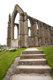 Ruined Abbey. External view of a ruined monastic abbey in Yorkshire, England royalty free stock photography