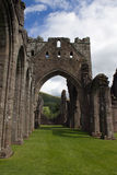 Ruined abbey in Brecon Beacons in Wales Royalty Free Stock Image
