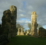 Ruined abbey walls Royalty Free Stock Images