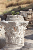 Ruined ancient column Stock Photos