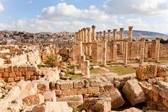 Ruined ancient jerash Stock Photo