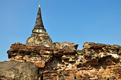 Ruined ancient pagoda Stock Images