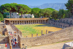 Ruined ancient Roman city of Pompei, engulfed by Vesuvius in AD 79 UNESCO World Heritage Site. Ruined ancient Roman city of Pompei, engulfed by Vesuvius in AD Stock Photo