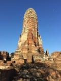 Ruined ancient temple of Ayutthaya Kingdom royalty free stock photo