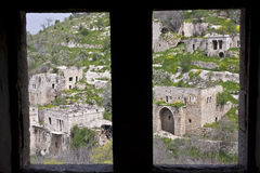 The ruined arab village of Lifta Royalty Free Stock Photo