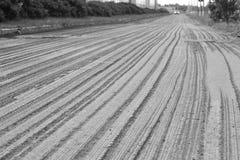 Ruined asphalt before repair Stock Photo