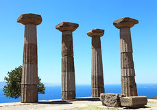 Ruined Athena Temple in Assos Stock Photos