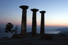 Ruined Athena Temple in Assos, Turkey Stock Photography