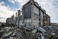 Ruined barn house Stock Photo