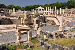 Ruined Beit-Shean Stock Photo