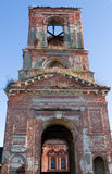 Ruined bell tower Stock Images