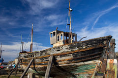 Ruined boat Royalty Free Stock Photo
