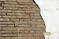 Ruined brick facade Stock Photo