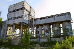 Ruined brick factory. Old abandoned ruined brick factory Royalty Free Stock Photo