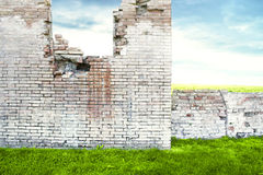 Ruined Brick Wall Stock Photo