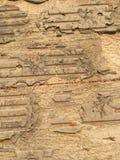 Ruined brick wall background Stock Image