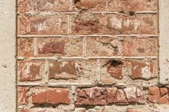 Ruined brick wall Stock Image