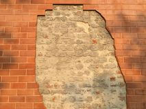 Ruined brick wall Royalty Free Stock Photos