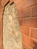 Ruined brick wall Royalty Free Stock Image