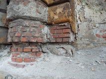 Ruined brick wall Royalty Free Stock Images