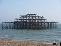 Ruined Brighton Pier Stock Image