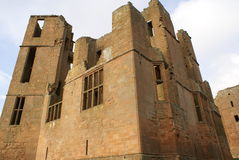 Ruined British castle Stock Image