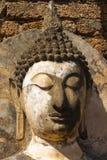Ruined Buddha's hade in Wat Phra Si Ratana Mahaphat, Si Satchanalai, Thailand. Photo taken on: October 28th, 2014 stock image