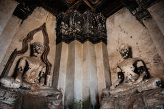 Ruined Buddha Statues Stock Photos