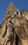 Ruined Buddha in Wat Phra Si Ratana Mahaphat, Si Satchanalai, Thailand. Photo taken on: October 28th, 2014 stock image