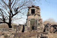 Buddhist temple in ruins Royalty Free Stock Photo