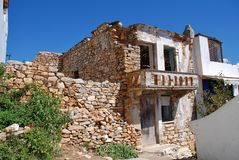 Ruined building, Alonissos island. A ruined building in the old village of Hora on the Greek island of Alonissos royalty free stock photos