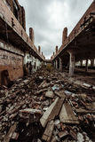 Ruined Building - Cleveland, Ohio. A long abandoned building in Cleveland, Ohio Stock Images
