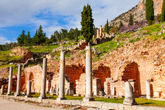 Ruined building in Delphi Stock Image