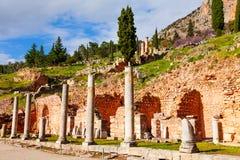 Ruined building in Delphi Stock Image