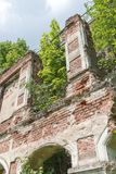 Ruined building fragment Royalty Free Stock Photography