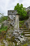 The ruined building. In the Godinje village at Montenegro Stock Image