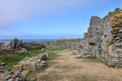 Ruined building on an an Island in the English Channel Stock Photography