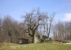 Ruined building in Licko Petrovo Selo. Croatia Stock Photos