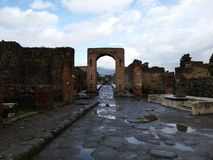 Ruined building in Pompeii Stock Photography