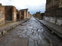 Ruined building in Pompeii Royalty Free Stock Photos