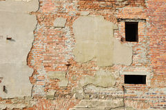 Ruined building wall background Royalty Free Stock Photo