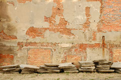Ruined building wall background Royalty Free Stock Image