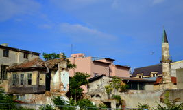 Ruined buildings in old town Constanta Royalty Free Stock Image