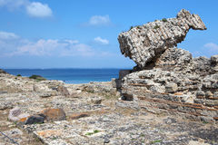 Ruined buildings at Tharros Stock Photo