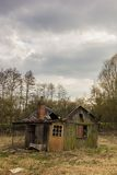 Ruined cabin in the swamps Stock Images