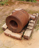 Ruined  cannon. Ruined Myanmar (Burma) cannon tip Stock Photo