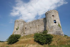 Ruined Castle. Battlements of abandoned castle Stock Photos