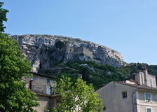 Ruined Castle at Fontaine-de-Vaucluse Royalty Free Stock Photography